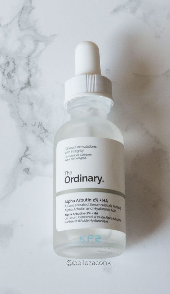 the ordinary niacinamide arbutin buffet lactic 5